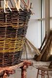 Έννοια Handcrafted Παραδοσιακό Wickerwork της Γαλικία, Ισπανία στοκ εικόνες με δικαίωμα ελεύθερης χρήσης