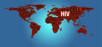 Έννοια HIV ή του AIDS Στοκ φωτογραφία με δικαίωμα ελεύθερης χρήσης