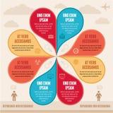Έννοια Infographic - δημιουργικό διανυσματικό σχέδιο Στοκ φωτογραφία με δικαίωμα ελεύθερης χρήσης
