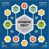 Έννοια Infographic - διανυσματικό σχέδιο με τα εικονίδια - σύγχρονο επιχειρησιακό πρότυπο Στοκ Εικόνες