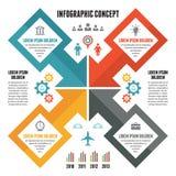 Έννοια Infographic - διανυσματικό σχέδιο με τα εικονίδια Στοκ Εικόνες