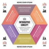 Έννοια Infographic - διανυσματικό σχέδιο με τα εικονίδια Στοκ φωτογραφίες με δικαίωμα ελεύθερης χρήσης