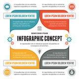 Έννοια Infographic - διανυσματικό σχέδιο με τα εικονίδια Στοκ Εικόνα