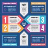 Έννοια Infographic - διανυσματικό σχέδιο Στοκ Εικόνα