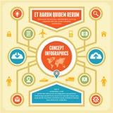Έννοια Infographic Στοκ Εικόνες