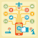 Έννοια Infographic - Touchpad & WI-Fi Στοκ φωτογραφία με δικαίωμα ελεύθερης χρήσης