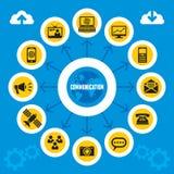 Έννοια Infographics επικοινωνίας Στοκ εικόνα με δικαίωμα ελεύθερης χρήσης