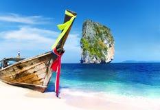 Έννοια Krabi Ταϊλάνδη νησιών Poda βαρκών θερινού Longtail Στοκ φωτογραφία με δικαίωμα ελεύθερης χρήσης