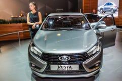 Έννοια Lada Vesta φορείων Στοκ Εικόνα