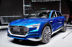 Έννοια quattro Audi ε -ε-tron στοκ εικόνα