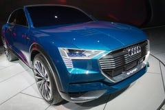 Έννοια quattro Audi ε -ε-tron στοκ φωτογραφία με δικαίωμα ελεύθερης χρήσης