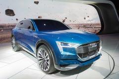 Έννοια quattro Audi ε -ε-tron στοκ φωτογραφία