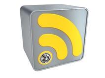 Έννοια Rss - προστασία δεδομένων Στοκ φωτογραφίες με δικαίωμα ελεύθερης χρήσης