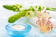 Έννοια SPA με ένα κερί Στοκ φωτογραφία με δικαίωμα ελεύθερης χρήσης