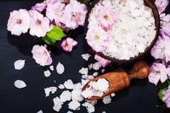 Έννοια SPA με τα λουλούδια του αμυγδάλου Στοκ φωτογραφίες με δικαίωμα ελεύθερης χρήσης
