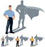Έννοια Superhero ατόμων Στοκ εικόνα με δικαίωμα ελεύθερης χρήσης