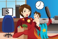 Έννοια Superhero mom ελεύθερη απεικόνιση δικαιώματος
