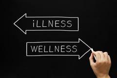 Έννοια Wellness ή ασθένειας Στοκ Εικόνες