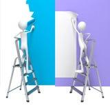 Έννοιες ανακαίνισης - σύνολο τρισδιάστατων απεικονίσεων Στοκ Φωτογραφίες