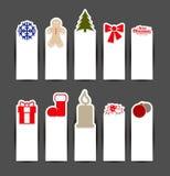 Έννοιες αυτοκόλλητων ετικεττών Χριστουγέννων Στοκ Εικόνες