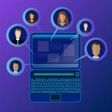 Έννοιες για την έρευνα των ανθρώπων, υπάλληλοι, υποψήφιοι, μέλη ομάδας Επίπεδη απεικόνιση σχεδίου ελεύθερη απεικόνιση δικαιώματος