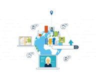 Έννοιες για τους ανθρώπους εύρεσης και συνάντησης Κοινωνικό δίκτυο, έννοια ομαδικής εργασίας Στοκ Εικόνες