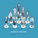Έννοιες επιχειρησιακής ομαδικής εργασίας διανυσματική απεικόνιση