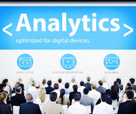 Έννοιες σχεδίου Ιστού Analytics επιχειρηματιών Στοκ Εικόνα