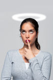 ένοχη γυναίκα συνείδησης Στοκ Εικόνες