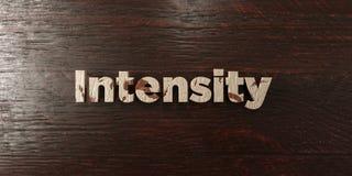 Ένταση - βρώμικος ξύλινος τίτλος στο σφένδαμνο - τρισδιάστατο δικαίωμα ελεύθερη εικόνα αποθεμάτων Στοκ Εικόνα