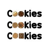 Ένταση προτύπων λογότυπων συνόλων μπισκότων 2 ελεύθερη απεικόνιση δικαιώματος