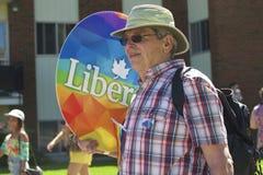 Έντμοντον, Καναδάς 10 Ιουνίου 2016: Οι άνθρωποι γιορτάζουν την υπερηφάνεια Στοκ φωτογραφία με δικαίωμα ελεύθερης χρήσης