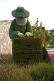 Έντομα και άνθρωποι ζώων αγαλμάτων που γίνονται από τις εγκαταστάσεις και τα χορτάρια Στοκ Φωτογραφίες