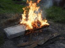 Έντονα καίγοντας matress Στοκ Εικόνες