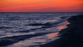 Έντονος παράκτιος βρόχος ηλιοβασιλέματος φιλμ μικρού μήκους