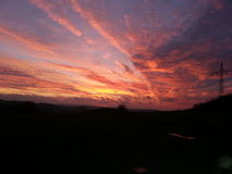 έντονο ηλιοβασίλεμα Στοκ εικόνα με δικαίωμα ελεύθερης χρήσης