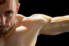 Έντονο workout ενός αθλητικού τύπου στοκ εικόνα