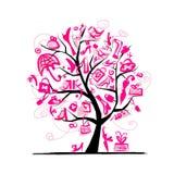 δέντρο αγορών σχεδίου έννοιάς σας Στοκ εικόνες με δικαίωμα ελεύθερης χρήσης
