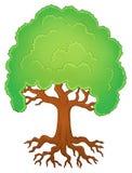 Δέντρο με την εικόνα 1 θέματος ριζών Στοκ εικόνες με δικαίωμα ελεύθερης χρήσης