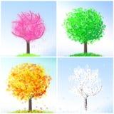 δέντρο τεσσάρων εποχών απ&epsilon Στοκ Φωτογραφίες