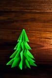 δέντρο origami απεικόνισης σχεδίου Χριστουγέννων σας Στοκ φωτογραφίες με δικαίωμα ελεύθερης χρήσης
