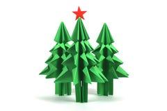 δέντρο origami απεικόνισης σχεδίου Χριστουγέννων σας Στοκ Εικόνα