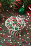 Έντυπο για το cupcake με τη διακόσμηση αστεριών Στοκ εικόνες με δικαίωμα ελεύθερης χρήσης