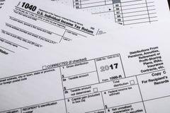 Έντυπο 1099-ρ IRS: Διανομές από τις συντάξεις, ετήσια επιδόματα, Retirem Στοκ Φωτογραφία