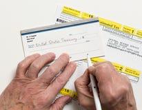 Έντυπο 1040-ES αμερικανικού IRS φόρου Στοκ Φωτογραφίες