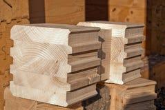 ένωση άκρης ξύλινη Στοκ Εικόνες