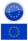 ένωση έδρας της επιτροπής ευρωπαϊκή σημαιών οικοδόμησης του Βελγίου Berlaymont Βρυξέλλες ανασκόπησης Στοκ Εικόνα