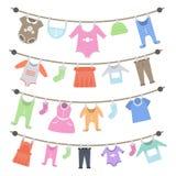 Ένωση ενδυμάτων μωρών διανυσματική απεικόνιση