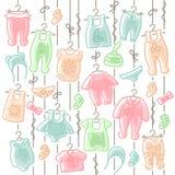 Ένωση ιματισμού μωρών στα σχοινιά Στοκ Εικόνα
