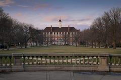 Ένωση και τετράγωνο Illini στο Πανεπιστήμιο του Ιλινόις Στοκ Εικόνες